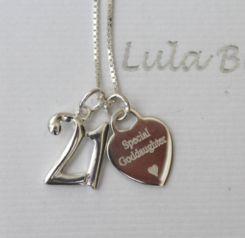 21st birthday gift for a Goddaughter - FREE ENGRAVING